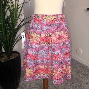 🆕 BEBE floral jacquard full skirt